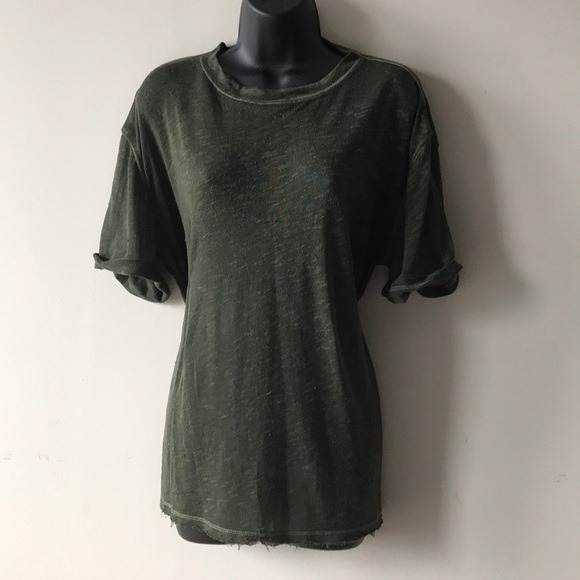 Free People Distressed Oversized T-Shirt